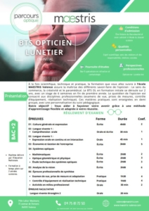 Programme Maestris Optique Valence